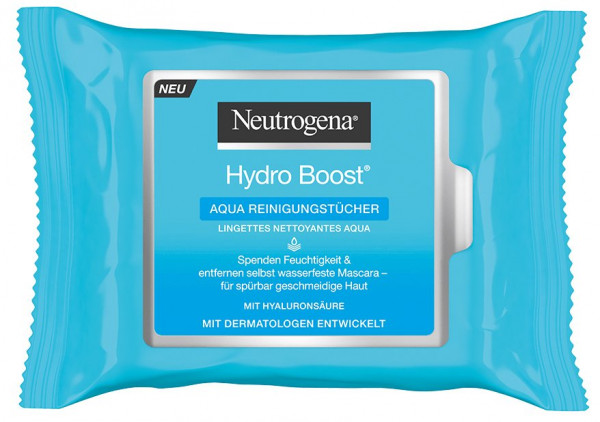 Neutrogena Hydro Boost Aqua lingettes nettoyantes