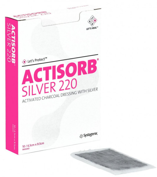 Actisorb Silver 220 compresse au charbon