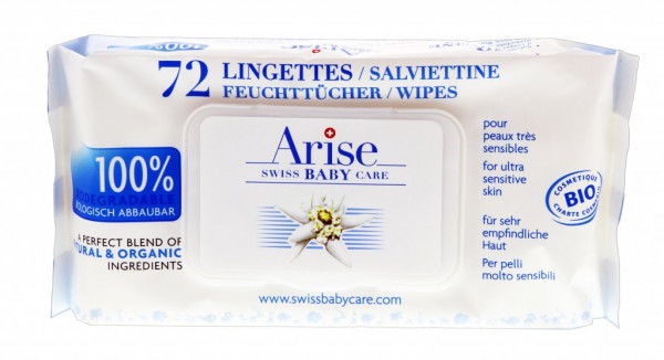 Arise Swiss Baby lingettes humides