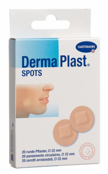 Dermaplast, Spots, runde Pflaster, hautfarbig