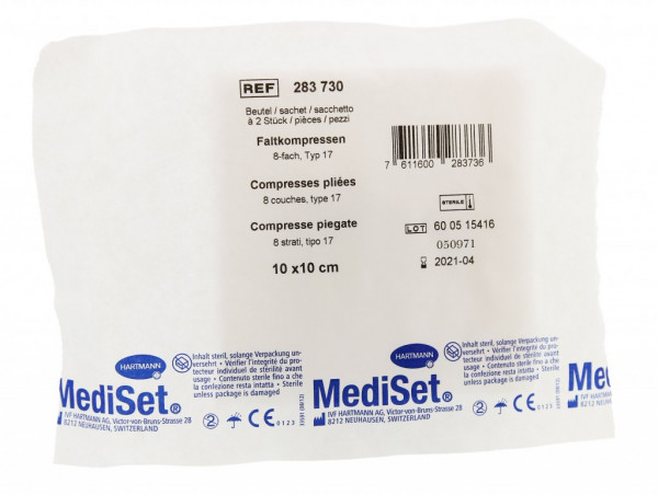 Mediset IVF compresses pliées ouate
